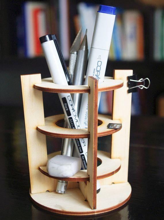 flatpack desktop organizer use acrylic diy holz. Black Bedroom Furniture Sets. Home Design Ideas
