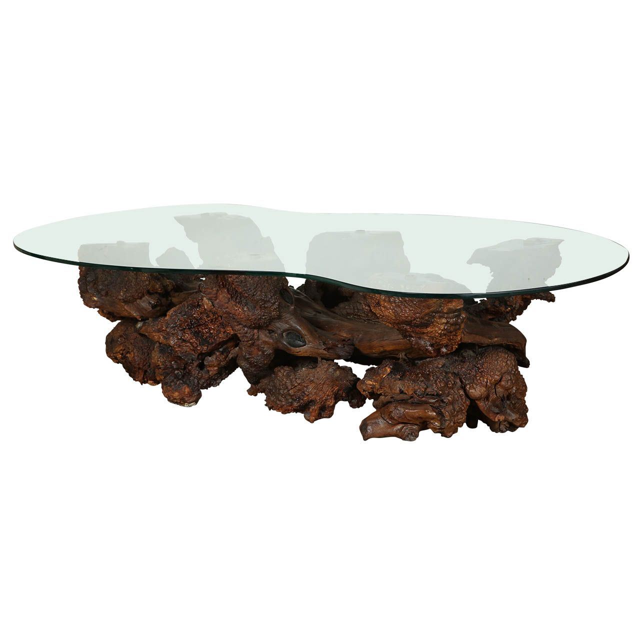 Spectacular Sculptural Large Burl Driftwood Coffee Table | From a unique collection of antique and modern coffee and cocktail tables at http://www.1stdibs.com/furniture/tables/coffee-tables-cocktail-tables/