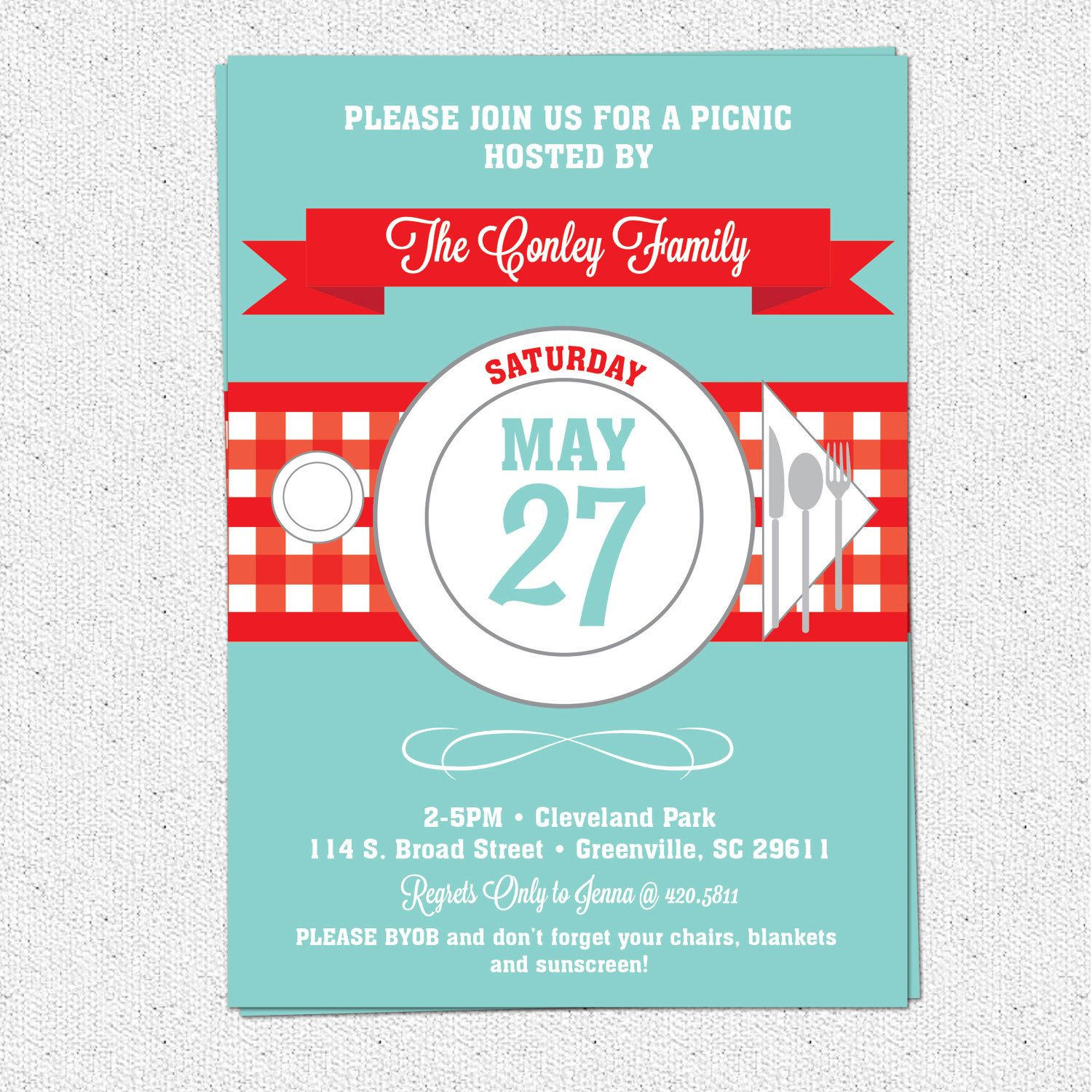 St Birthday Bash  Picnic Invite  AydenS St Birthday Bash