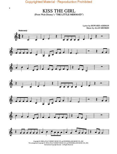 Free Printable French Horn Sheet Music Easy Disney Movie