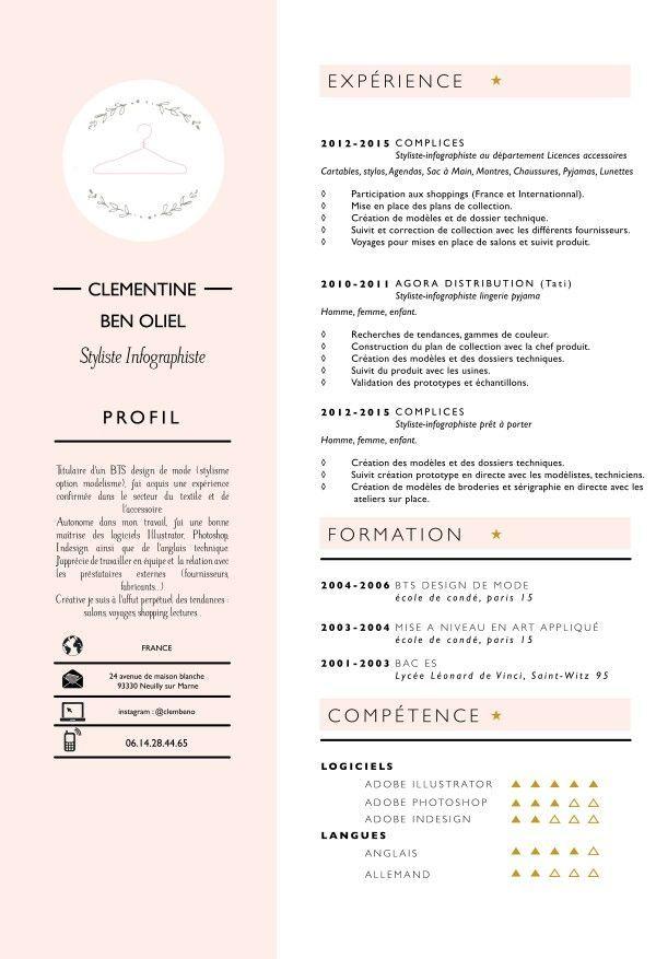 Image result for fashion design student resume Web Pinterest