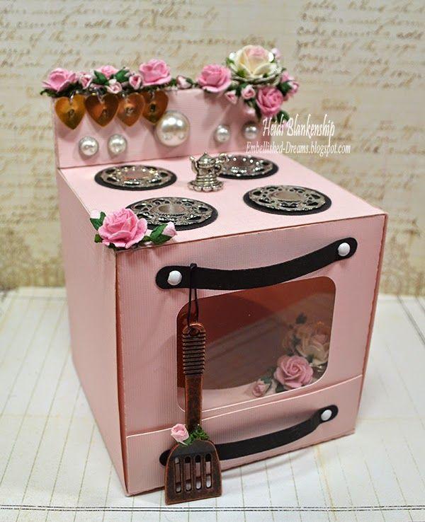 3D Oven Box Cut File - It's a Girl - Bun In The Oven! - Silhouette Cameo