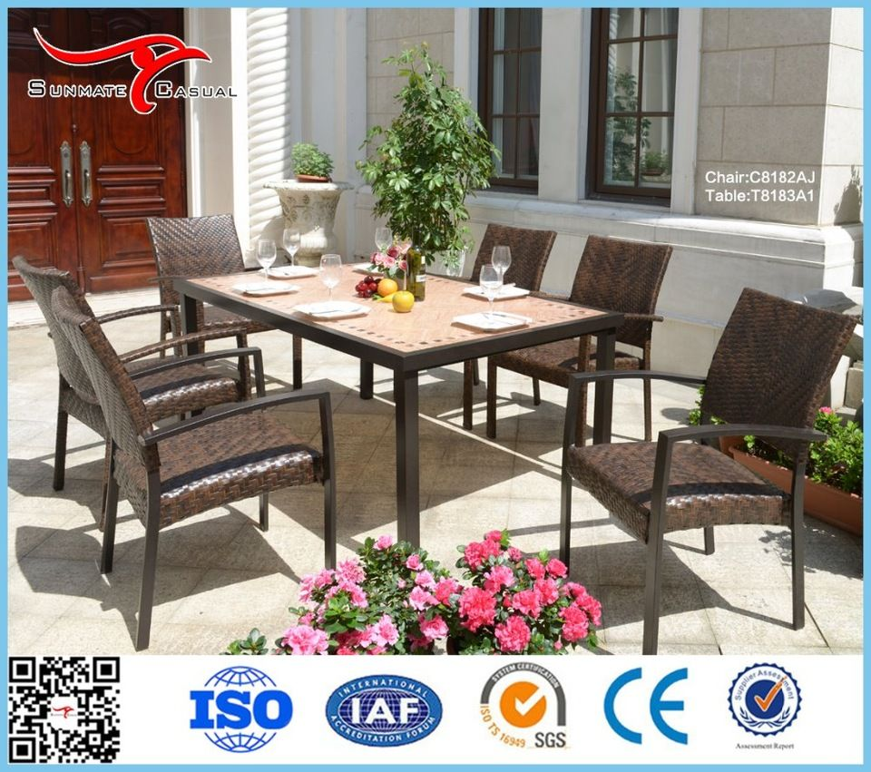 Modern Garden Furniture Outdoor Rattan Wicker Counter Height