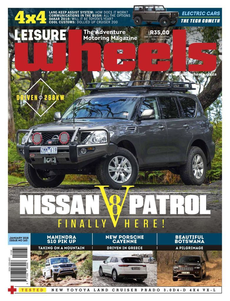 Leisure Wheels explores the exciting world of adventure motoring off the beaten track with an emphasis on breathtaking Southern African destinations. It's the country's leading magazine for those who love overland adventures, caravanning, camping, 4x4 and the great outdoors.