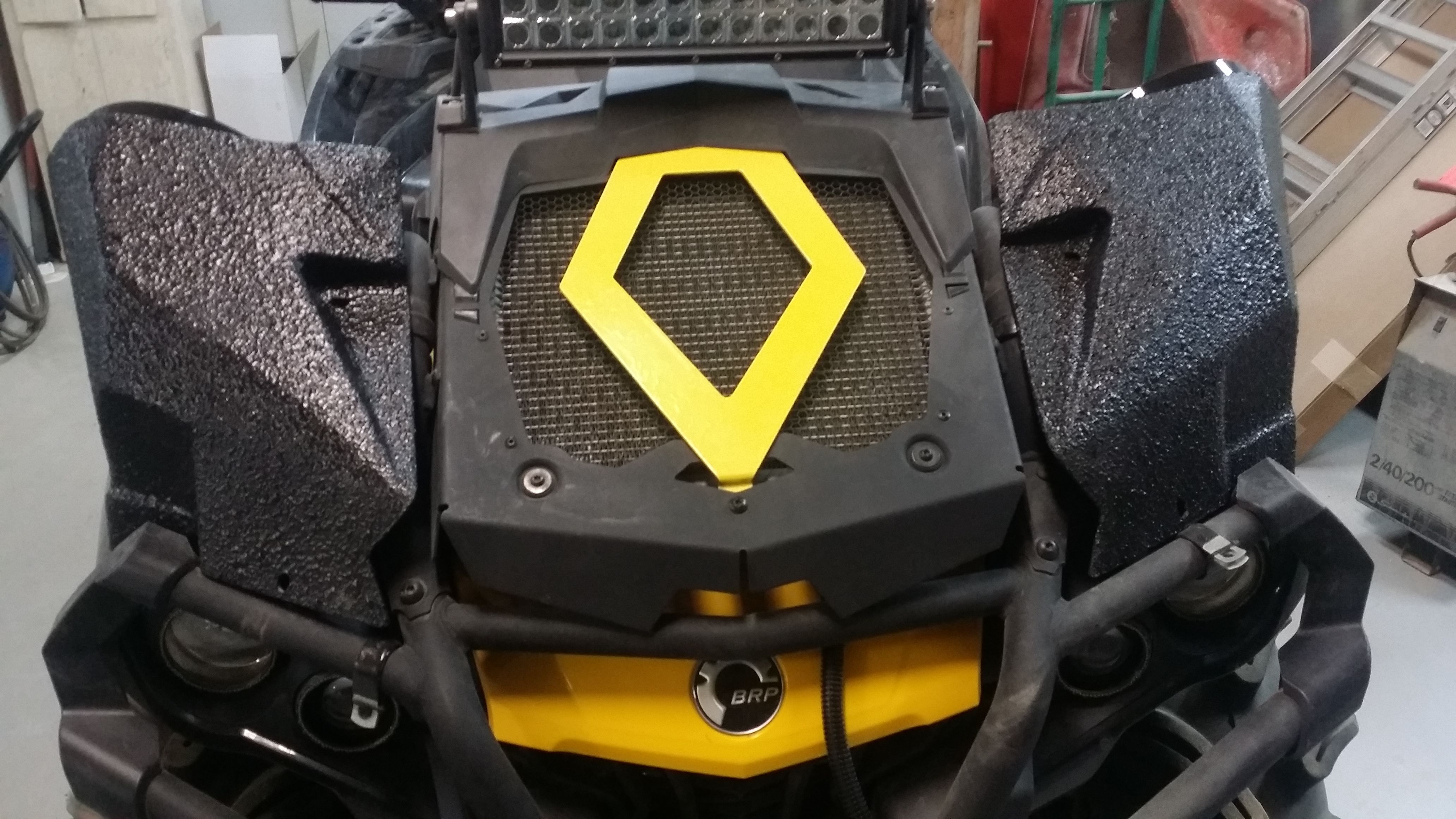 mayhem manufacturing can am outlander xmr pair audio boxes with 2 6 5 kicker marine speakers other models available find us on facebook and get loud  [ 4128 x 2322 Pixel ]
