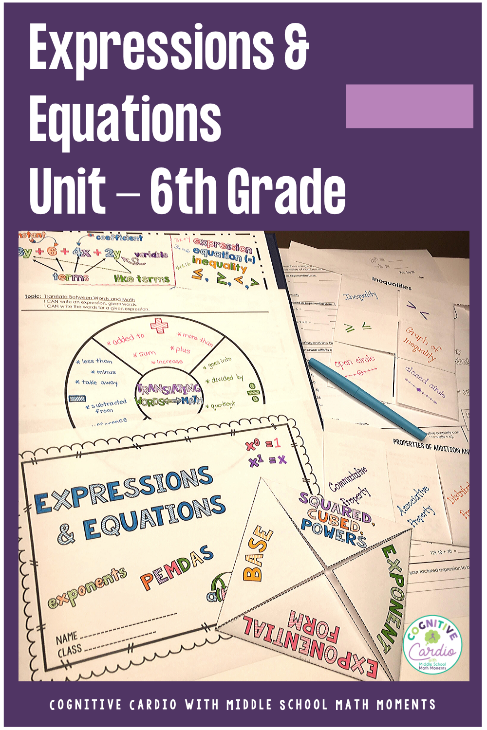 6th Grade Math Expressions and Equations Curriculum Unit