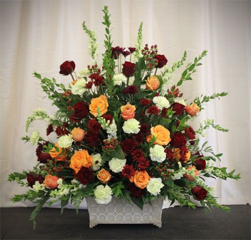 Fall Wedding Altar Flowers: Nathan & Jessica's Wedding