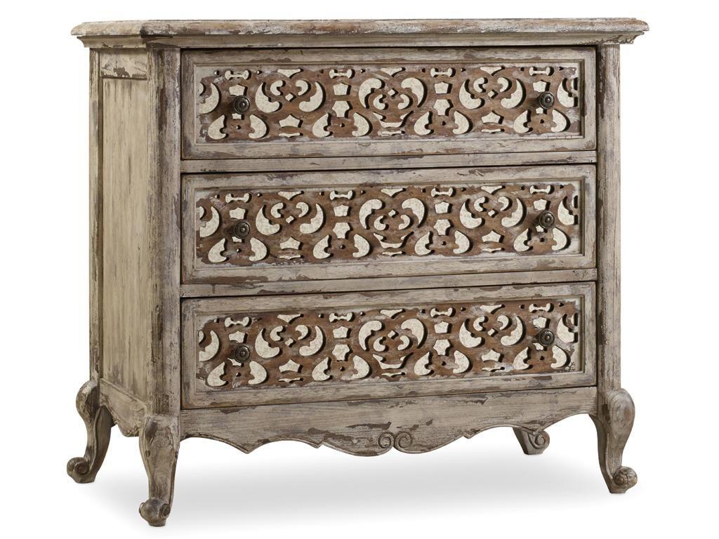 hooker furniture bedroom chatelet fretwork nightstand - Hooker Furniture Outlet