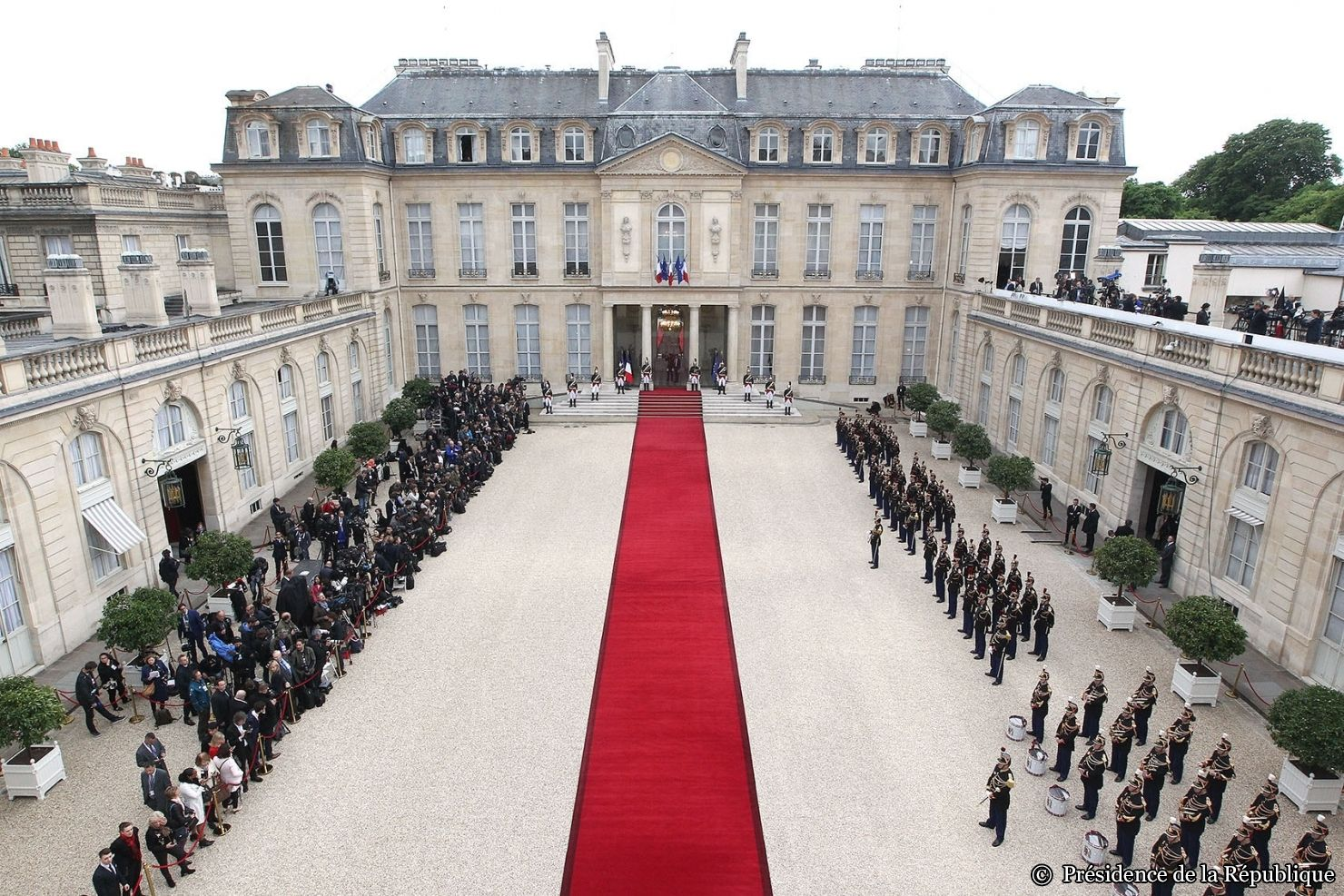 Emmanuel Macron's Nomination Ceremony. Elysée Palace, 75008 Paris. May 14th 2017  #Macron #France