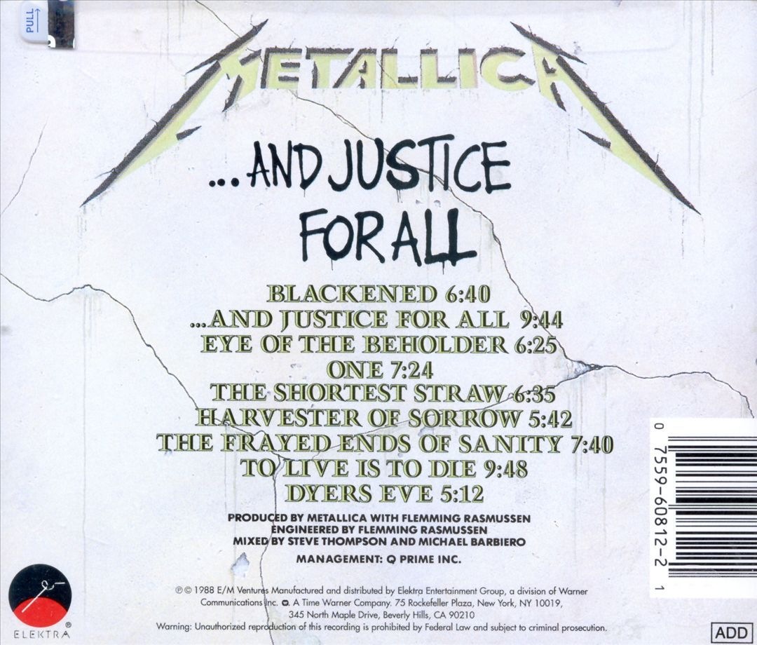 And Justice for All - Metallica | Songs, Reviews, Credits