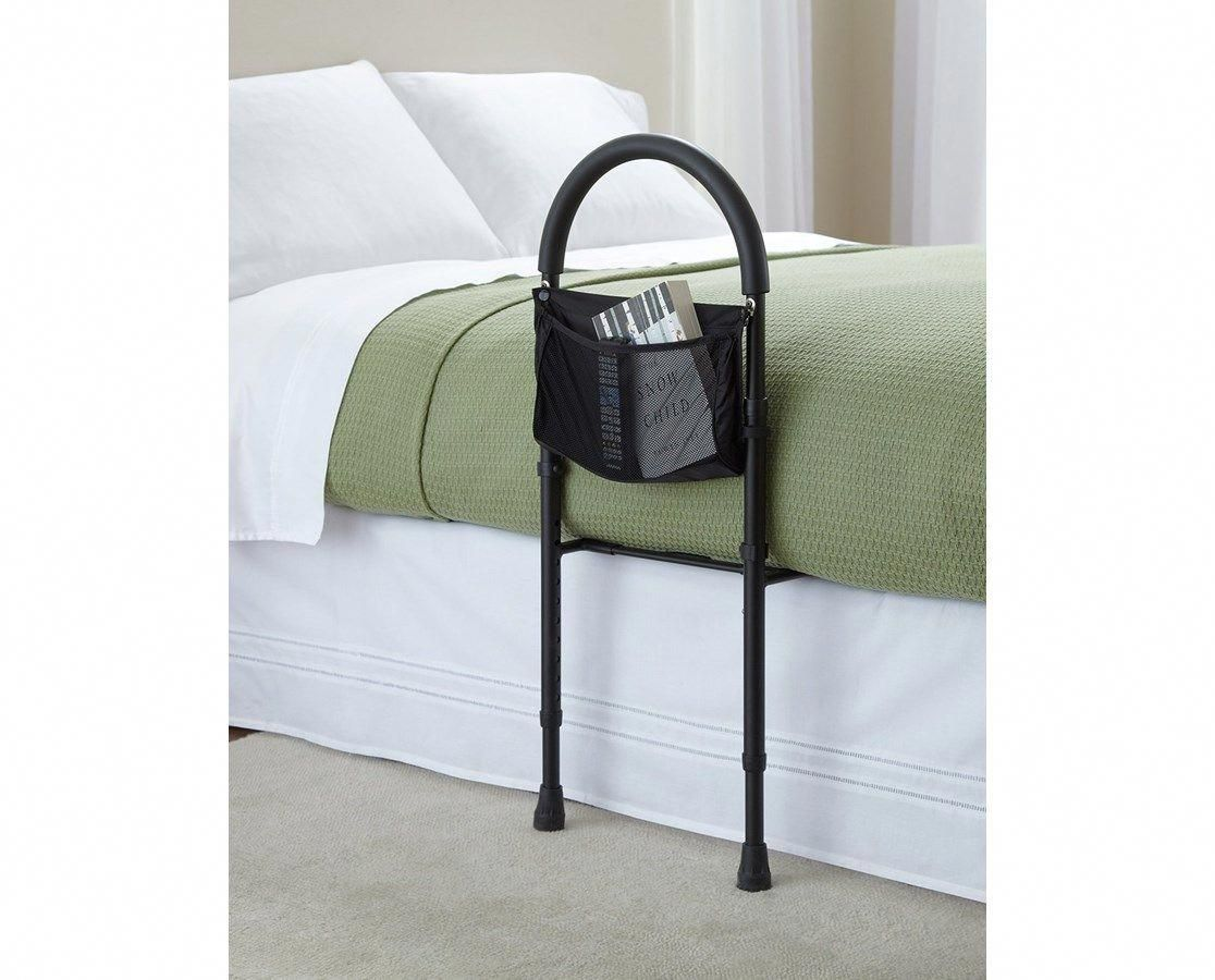 Adjustable home bed rail with pouch adi94000