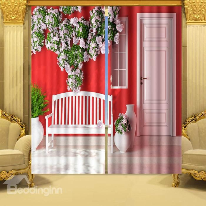 relaxing 3d outdoor scene 2 panels blackout curtain on sale buy retail price 3d curtains
