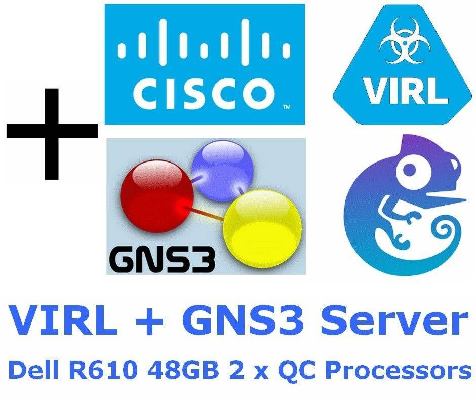 awesome Cisco VIRL & GNS3 Server Dell R610 48GB VMware ESXi 6 CCNA