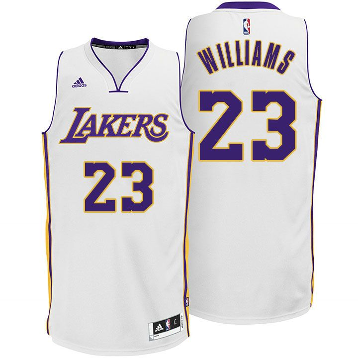 the latest b97e6 25056 Los Angeles Lakers #23 Lou Williams New White Jersey ...