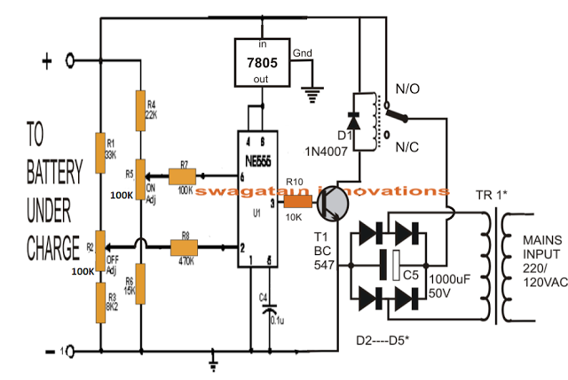 best automatic lead acid battery charger circuit using ic