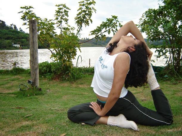 boobs yoga