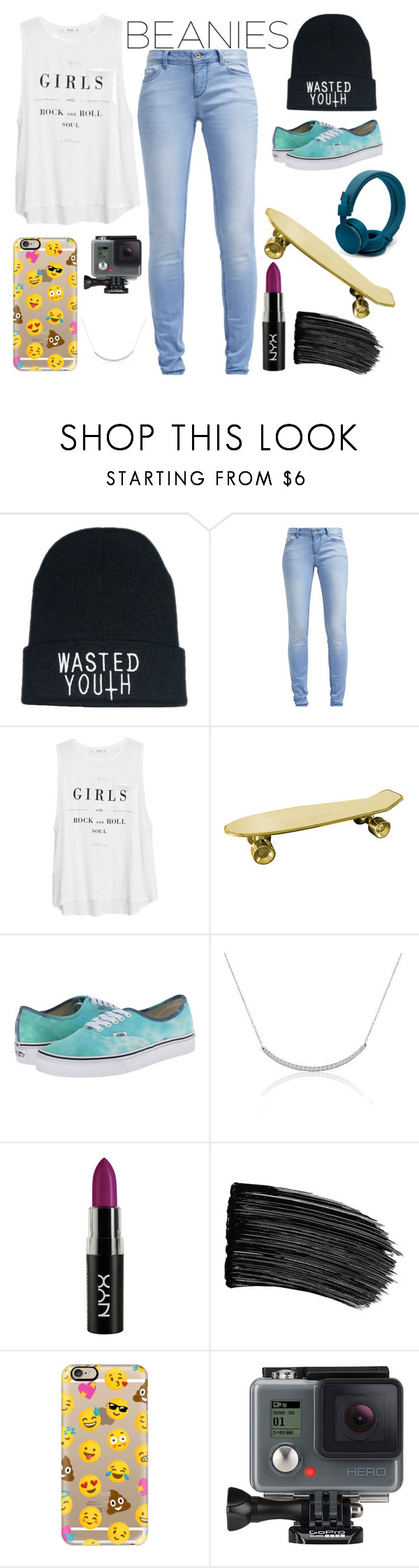"""""""BeanieSwag"""" by power-of-swag ❤ liked on Polyvore featuring TOM TAILOR, MANGO, Seletti, Vans, L'Oréal Paris, Casetify, GoPro, cute, cool and nice"""