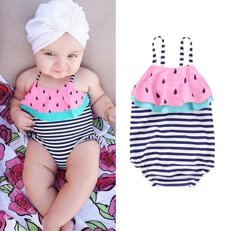 c9cdb684ff Available in baby and toddler sizes. This sweet watermelon swimsuit will be  the cutest melon on the beach.