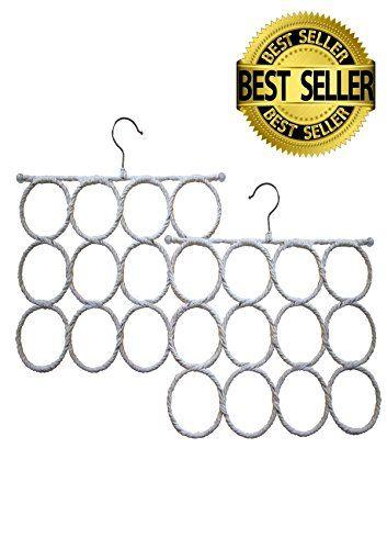 Amazon.com: Scarf Hanger Over the Door - 2 Twelve Loop Scarf Storage Hangers, Snag Free, Best Closet Storage For Scarfs, Ties, Jewelry: Home & Kitchen