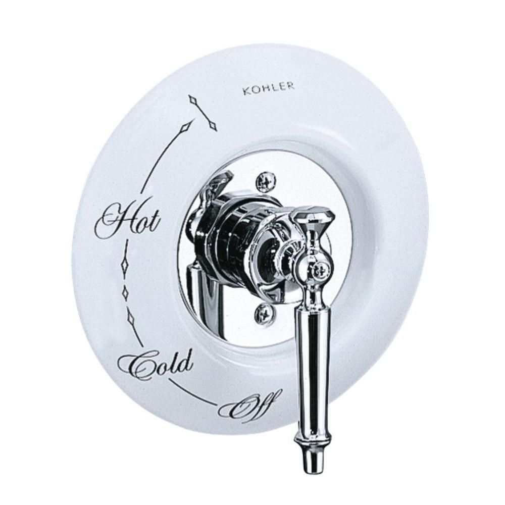 Kohler 7 1 2 In Antique Ceramic Dial Plate In White Antique Ceramics Kohler Traditional Bathroom Faucets