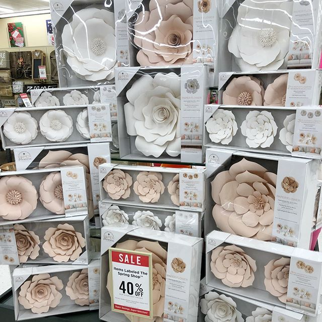 Paper Flowers At Hobby Lobby Color Choices Mauve Pink And White