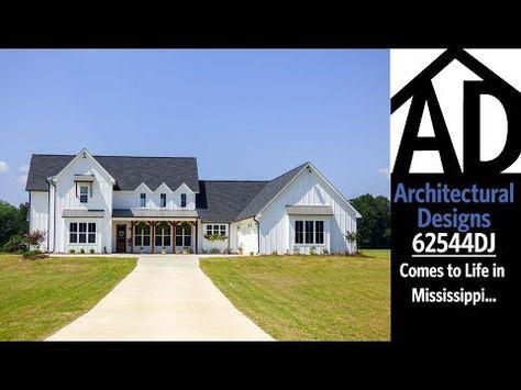 Modern 4 Bedroom Farmhouse Plan   62544DJ | Architectural Designs   House  Plans