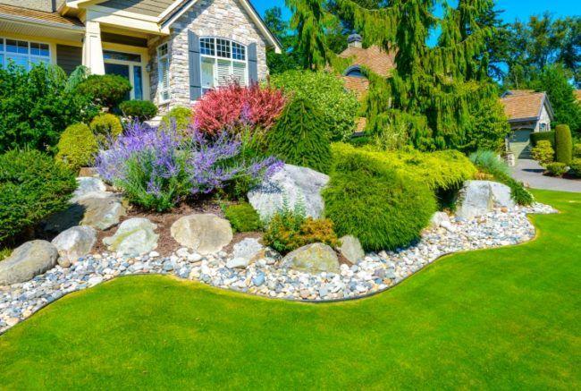 gartengestaltung pflegeleichte pflanzen vorgarten-anlegen-ideen-gartengestaltung-pflegeleichte