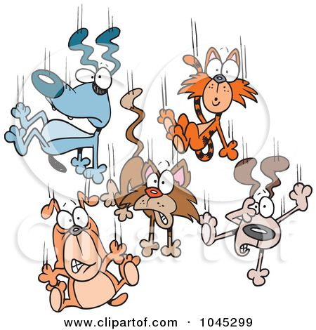 Drawings Of Dogs Art Illustration Of Cartoon Cats And Dogs