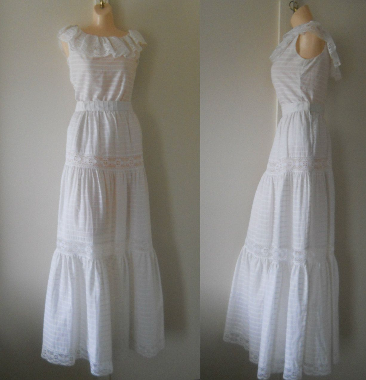 Hippie wedding dress long wedding skirt boho wedding dress