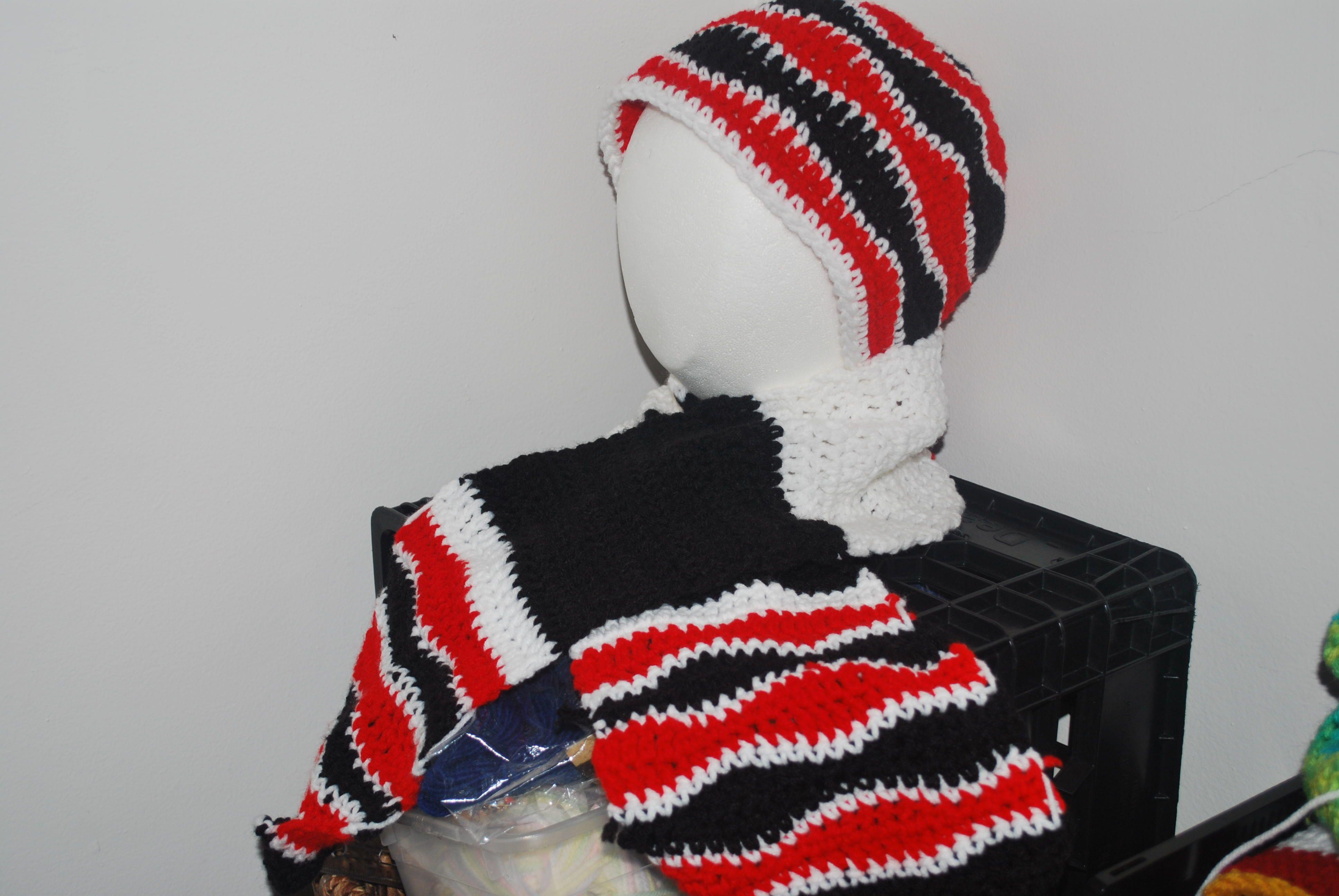 50407a146 Brain Wave Hat and Scarf Set (crochet) | My Crochet Stuff | Hat ...