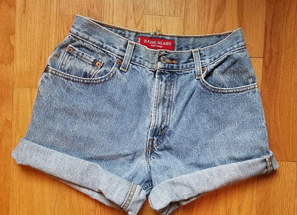 ead4829c Womens Vintage Levi 550 High Waisted Light Wash Festival Shorts Size 8    Clothing, Shoes & Accessories, Women's Clothing, Shorts   eBay!