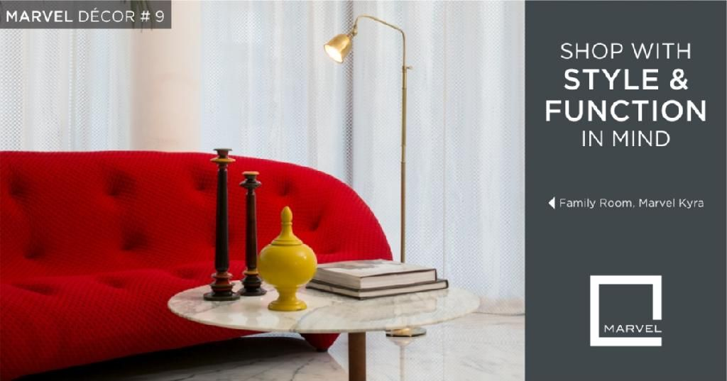 MARVELDÉCOR#9-Choose a living-room lamp that's lovely to look at, whether it's on or off.