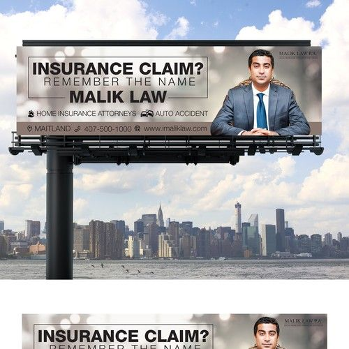 Create a striking and memorable billboard for Law Firm ...
