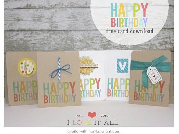 Birthday Cards Free Download Printable Custom Happy Birthday Cards  Happy Birthday Cards Happy Birthday And .