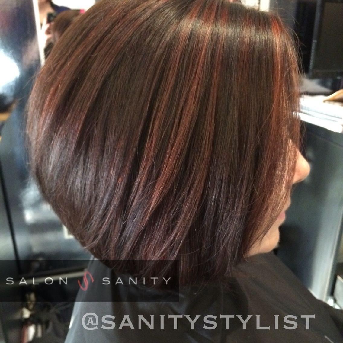 Cocoa Hair Color With Cinnamon Highlights Todayss