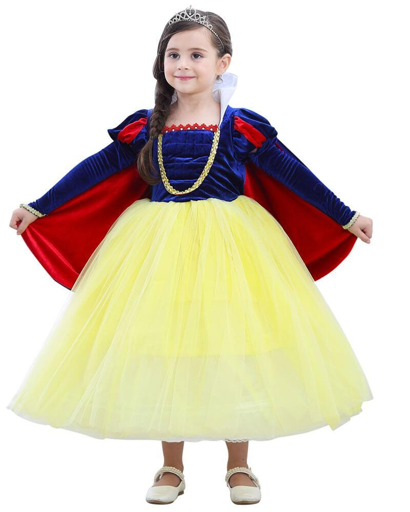 059f79efcb1 Cute Girls Snow White Princess Dress kid Stage Play Gown Costume – FADCOVER