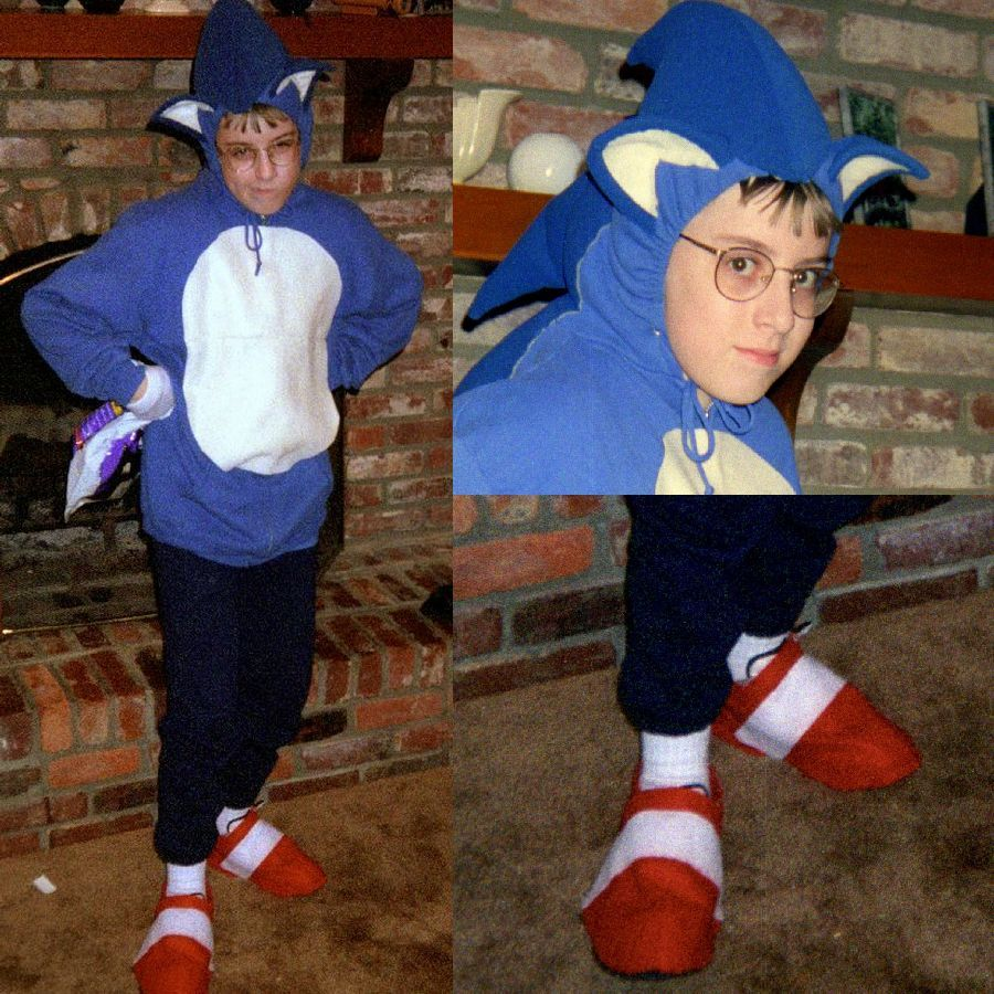 the sewinghappyplace Sonic the hedgehog costume