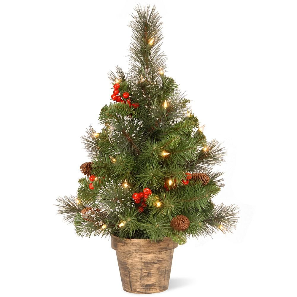2' Crestwood Spruce Entrance Tree with Clear Lights