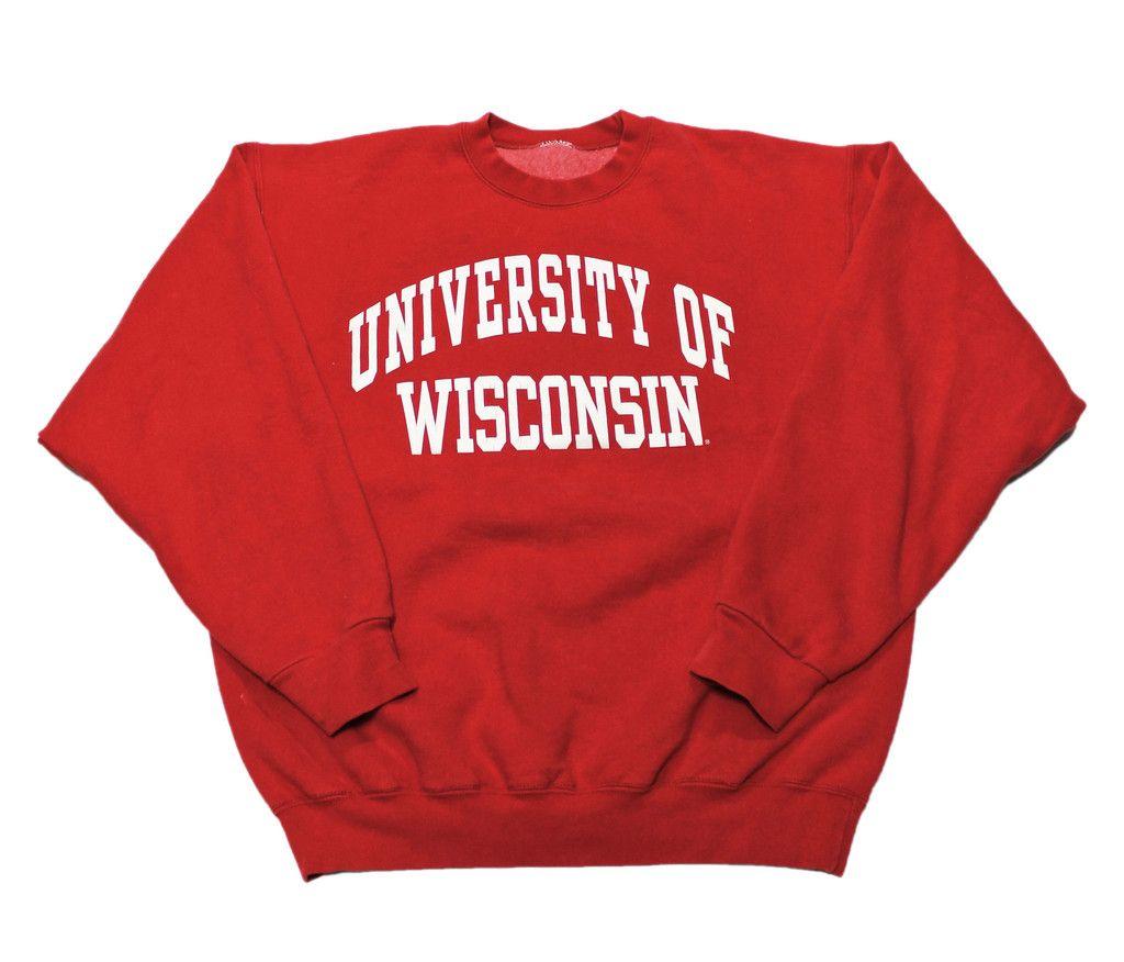 Vintage 90s University Of Wisconsin Crewneck Sweatshirt Mens Size Large 35 00 Vetements [ 876 x 1024 Pixel ]