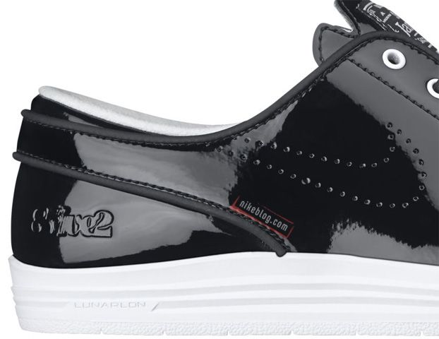 8Five2 x Nike SB Lunar Stefan Janoski BLACK PATENT Release Date
