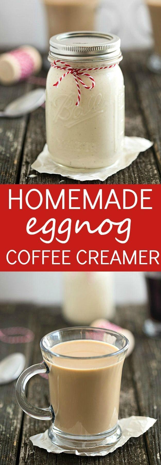 Homemade Eggnog Coffee Creamer Recipe Homemade eggnog