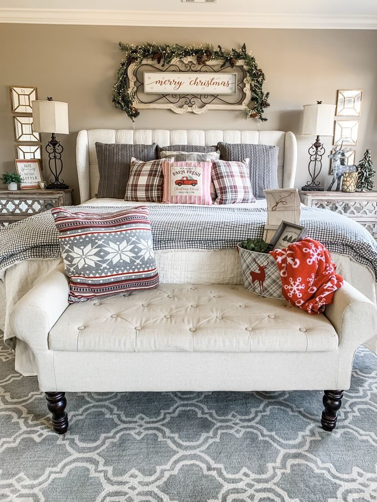 Cozy Christmas bedroom decor ideas to add some holiday cheer! | Wilshire Collections