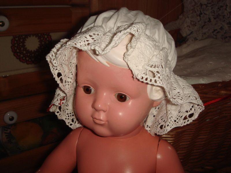 Puppenhaube,Puppenhut,weiß,Spitze | Weiße spitze, Puppenkleidung und ...
