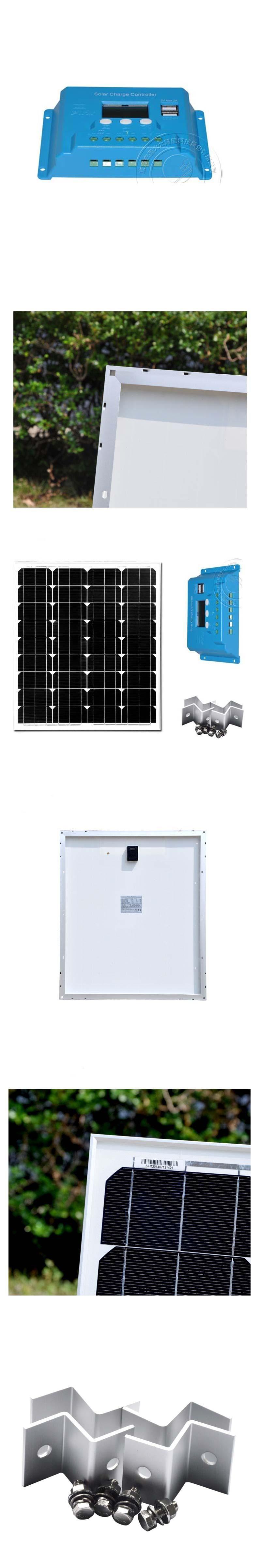 solar panel kits 70w 12v solar charger controller 10a 12v 24v pv