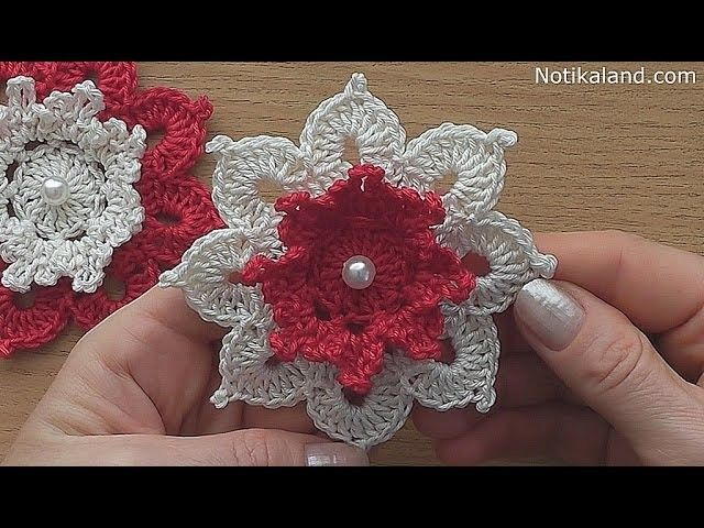 Crochet flower tutorial VERY EASY | Rosas de tela | Pinterest ...