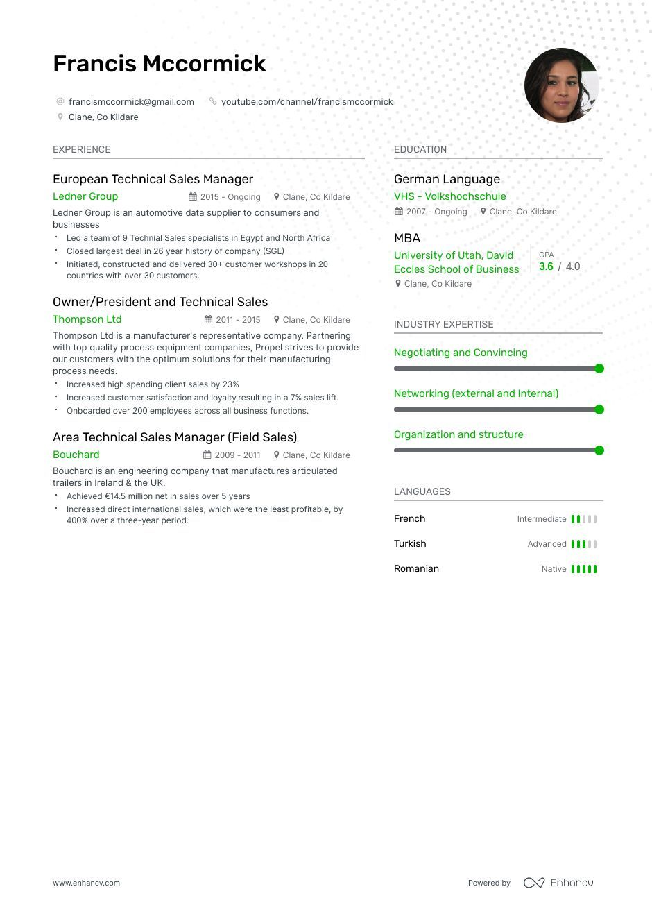 The ultimate 2019 guide for Technical Sales resume