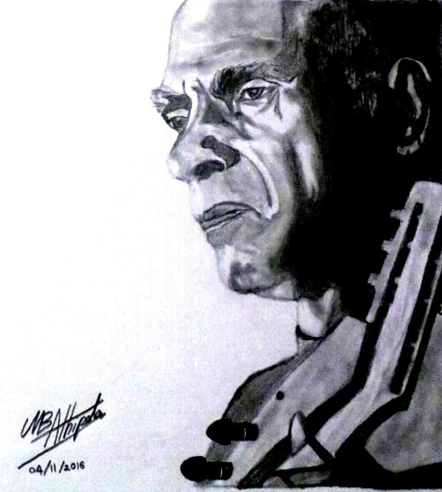 W.D.Amaradeva drawing by Muditha Athipola