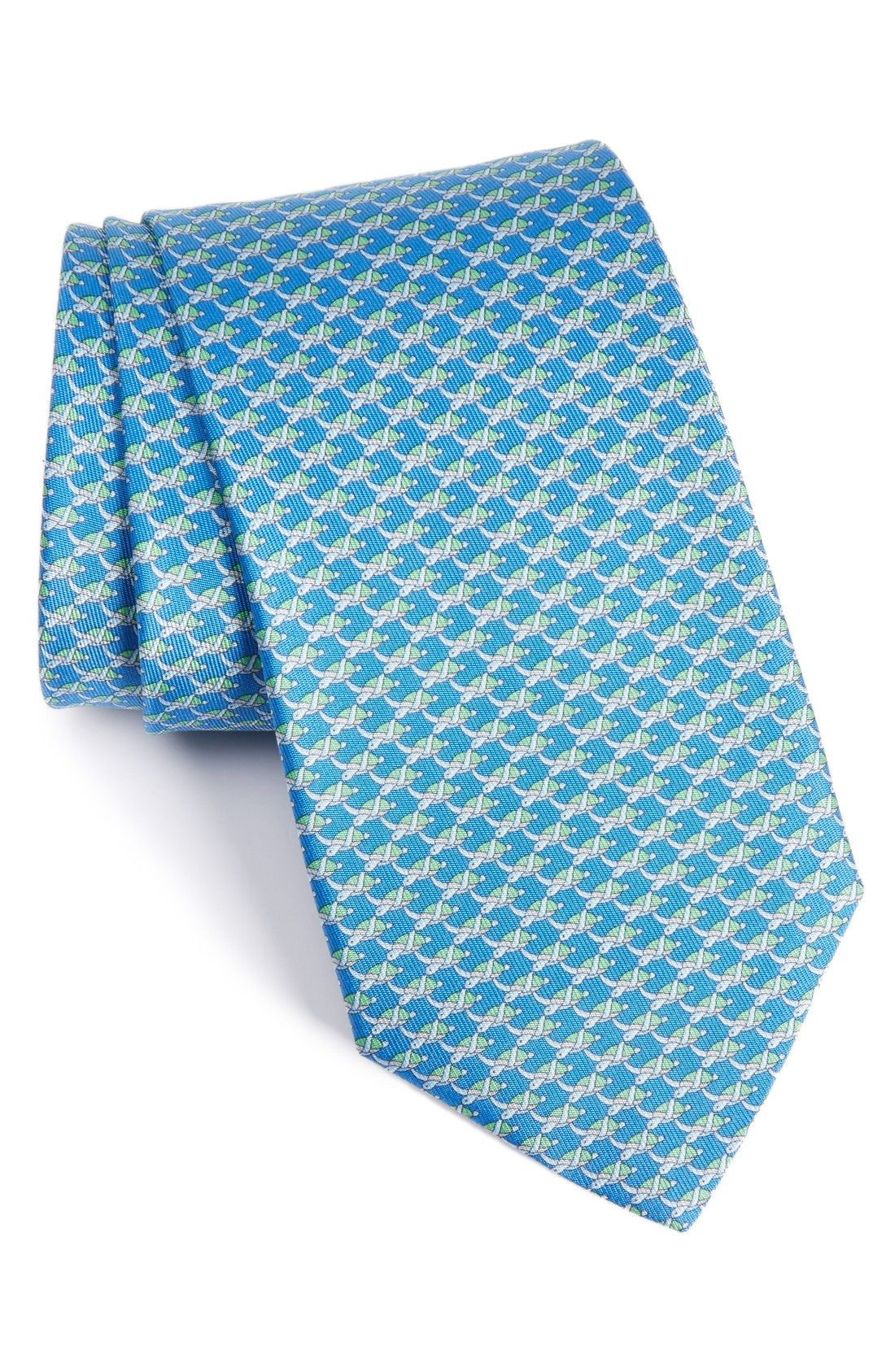 Mens Turtle-Print Silk Twill Necktie Salvatore Ferragamo Official Sale Online zdLpa