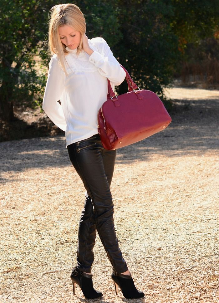 Leather Leggings And Booties