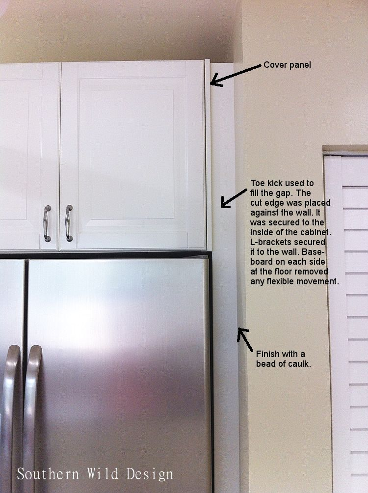 Fill Gap Between Wall And Fridge Diy Kitchen Cabinets Ikea